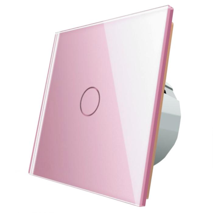 Włącznik dotykowy pojedynczy Livolo VL-C701 - 67 Różowy